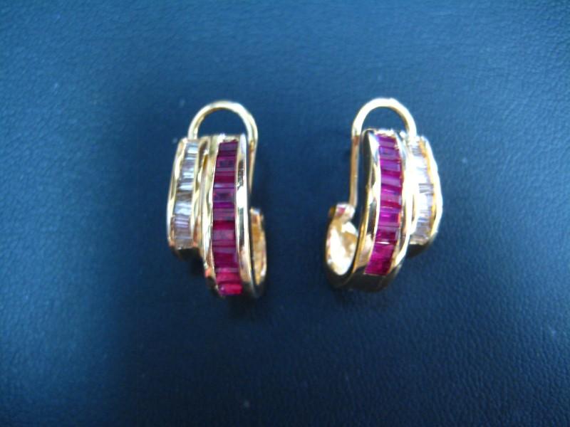 Gold Earrings 18K Yellow Gold 1g