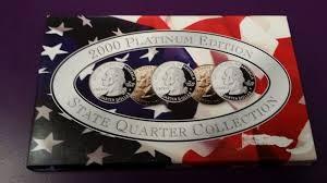 UNITED STATES MINT SET2000 PLATINUM EDITION STATE QUARTER COLLECTION