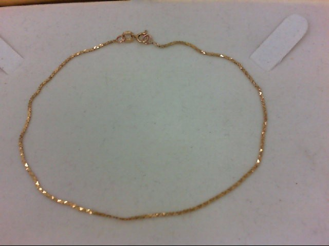 14K Yellow Gold 1g anklet