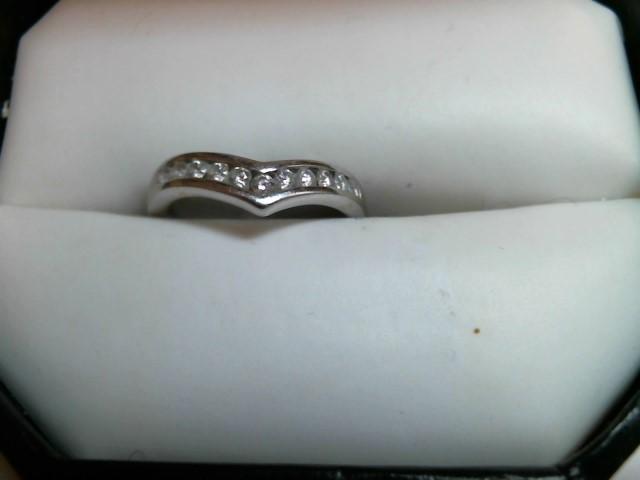 Lady's Diamond Engagement Ring 11 Diamonds .22 Carat T.W. 14K White Gold 1.2dwt