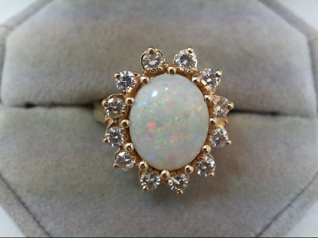 Opal Lady's Stone Ring 14K Yellow Gold 6.2g