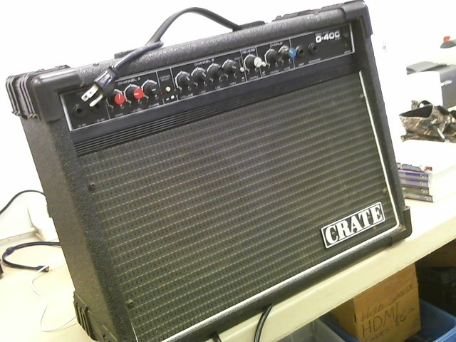 crate electric guitar amp g40c very good buya. Black Bedroom Furniture Sets. Home Design Ideas