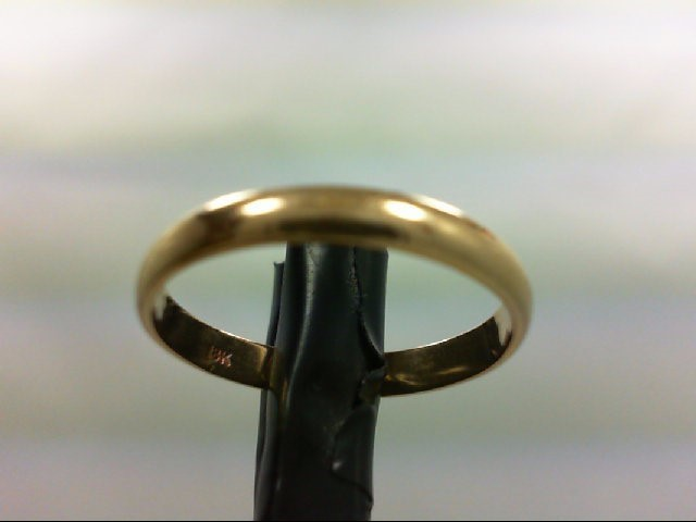 Lady's Gold Wedding Band 18K Yellow Gold 1.8g Size:6