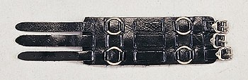 DEALER LEATHER WR38; LEATHER WATCHBAND WITH RINGS