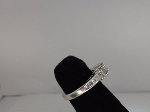 Lady's Diamond Wedding Band 11 Diamonds 1.20 Carat T.W. 14K White Gold 3.75g