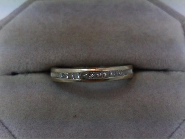 Lady's Diamond Wedding Band 11 Diamonds .27 Carat T.W. 14K White Gold 3.5g