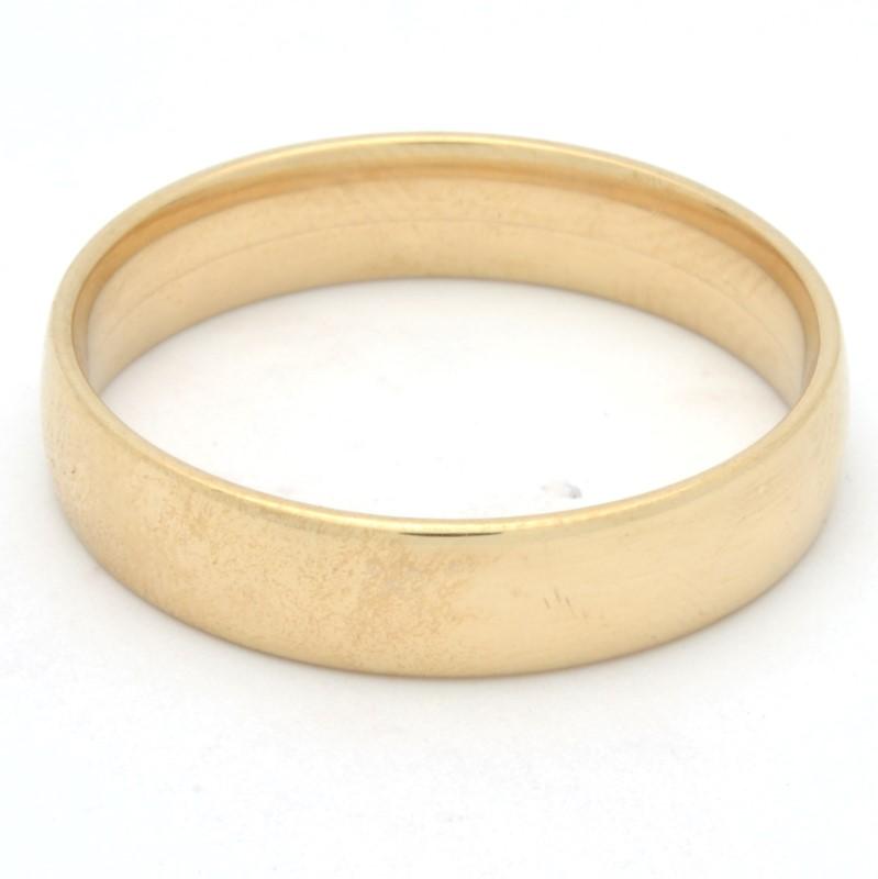 MENS 5.5MM WEDDING RING BAND SOLID 14K YELLOW GOLD PLAIN LG SZ 14.5