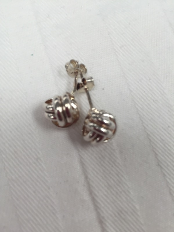 LOVE KNOT STERLING SILVER EARRINGS