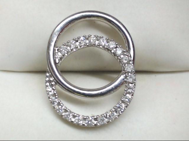 Gold-Multi-Diamond Pendant 21 Diamonds .21 Carat T.W. 14K White Gold 2.1g