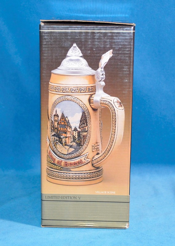 ANHEUSER-BUSCH BEER STEIN TOMORROW'S TREASURES LIMITED EDITION V VILLAGE SCENE