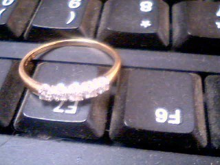 Lady's Gold-Diamond Anniversary Ring 5 Diamonds .20 Carat T.W. 14K Yellow Gold