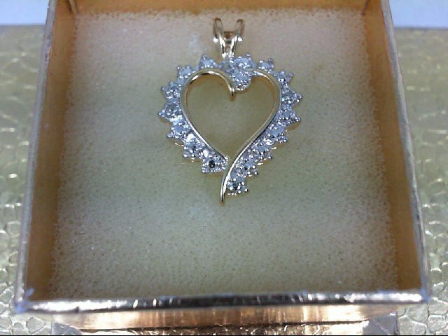 Silver-Diamond Pendant 0.01 CT. 925 Silver 2.5g