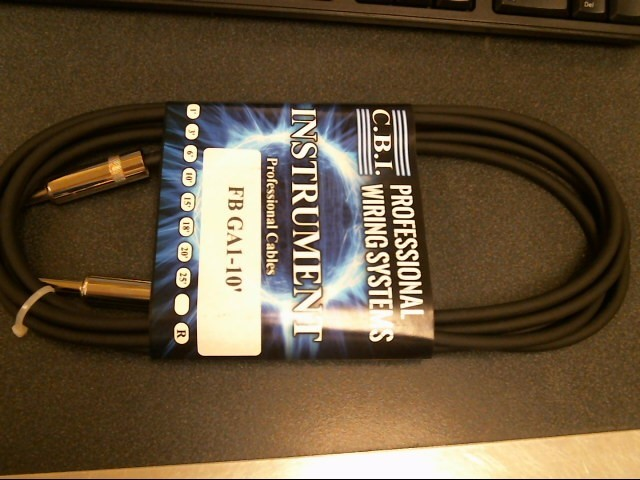 CBI CABLES Musical Instruments Part/Accessory GA1 10FT CABLE