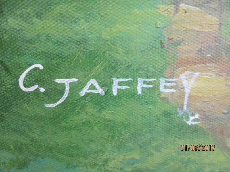 C. JAFFEY Painting OIL PAINTING
