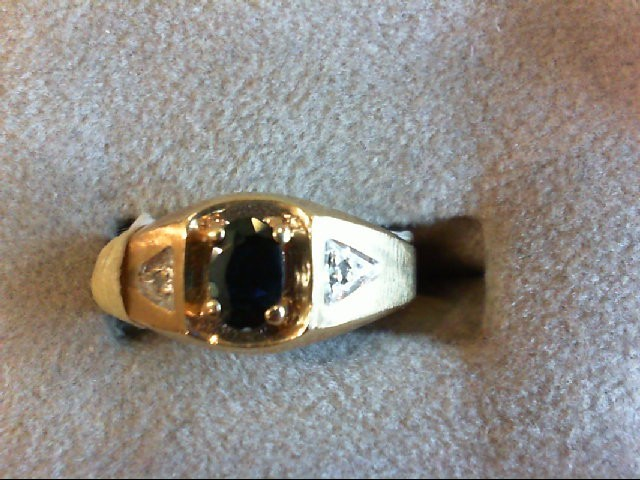 Sapphire Gent's Stone Ring 10K Yellow Gold 3.2g