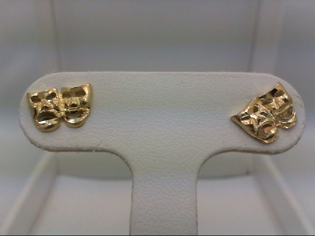 Gold Earrings 10K Yellow Gold 0.7g