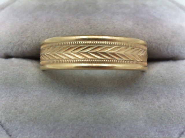 Gent's Gold Wedding Band 14K Yellow Gold 7.3g Size:10