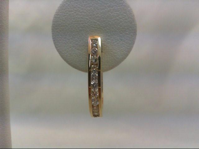 Gold-Diamond Earrings 20 Diamonds .80 Carat T.W. 14K Yellow Gold 5.5g