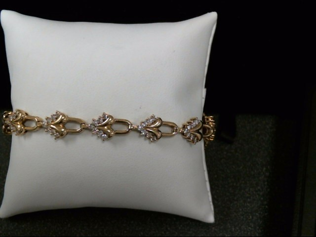 Gold-Diamond Bracelet 91 Diamonds 1.82 Carat T.W. 14K Yellow Gold 15.8g