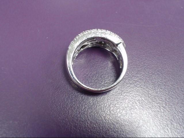 Lady's Diamond Fashion Ring 76 Diamonds .76 Carat T.W. 18K White Gold 9.6g