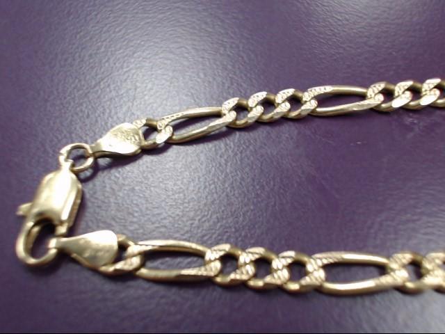 """24"""" Gold Figaro Chain 14K Yellow Gold 19.52g"""