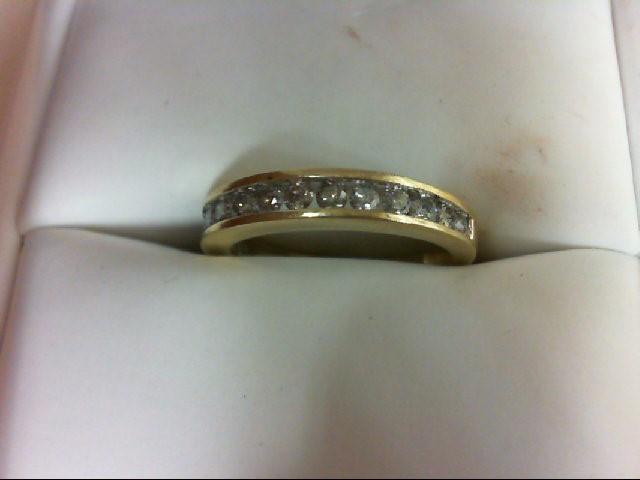 Lady's Diamond Wedding Band 14 Diamonds 0.56 Carat T.W. 10K Yellow Gold 2.2g