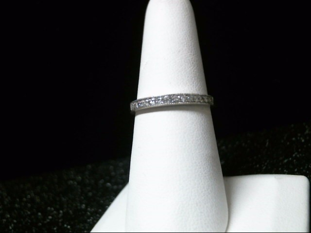 Lady's Diamond Wedding Band 15 Diamonds .15 Carat T.W. 14K White Gold 2.2g