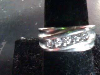 Gent's Diamond Cluster Ring 5 Diamonds .30 Carat T.W. 10K White Gold 4dwt