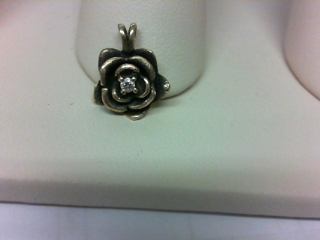 Gold-Multi-Diamond Pendant .01 CT. 14K Yellow Gold 1.5g