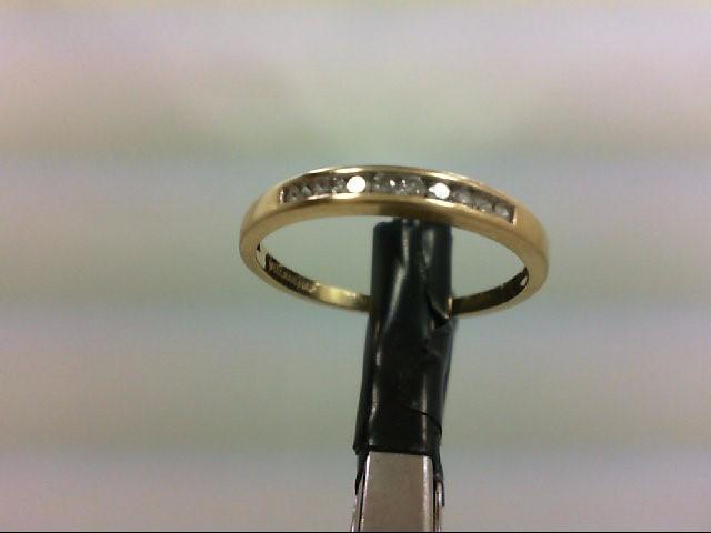 Lady's Diamond Wedding Band 10 Diamonds 0.2 Carat T.W. 14K Yellow Gold 1.4g
