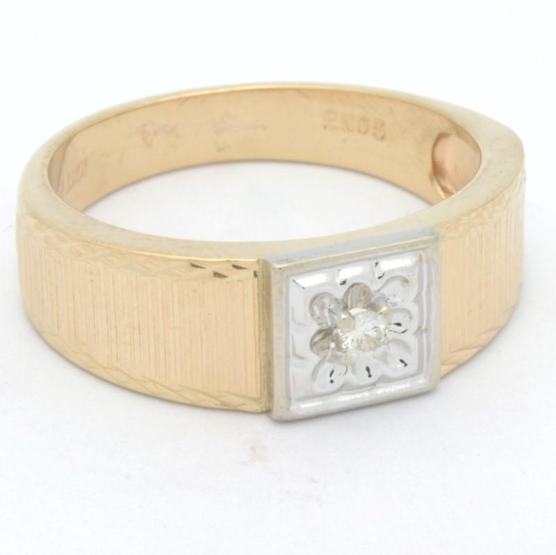 ESTATE MENS DIAMOND RING BAND SOLID 10K YELLOW GOLD WEDDING SIZE 10