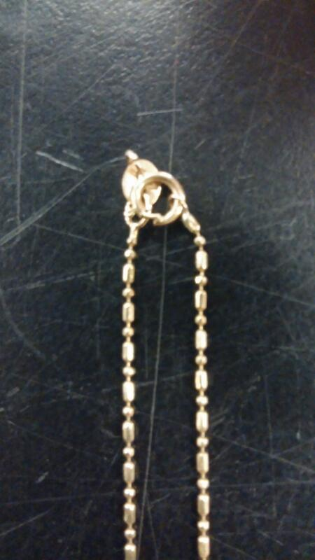 "17"" Gold Chain 10K Yellow Gold 0.9dwt"