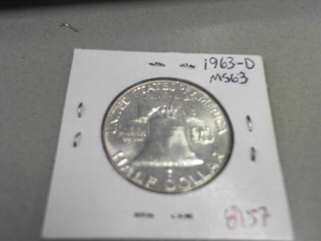 1963 FRANKLIN HALF DOLLAR 12.43GRAMS