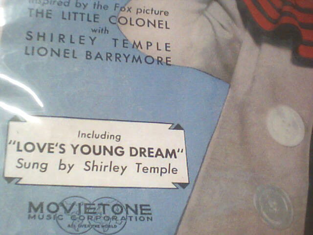 MOVIETONE Entertainment Memorabilia SHIRLEY TEMPLE SHEET MUSIC