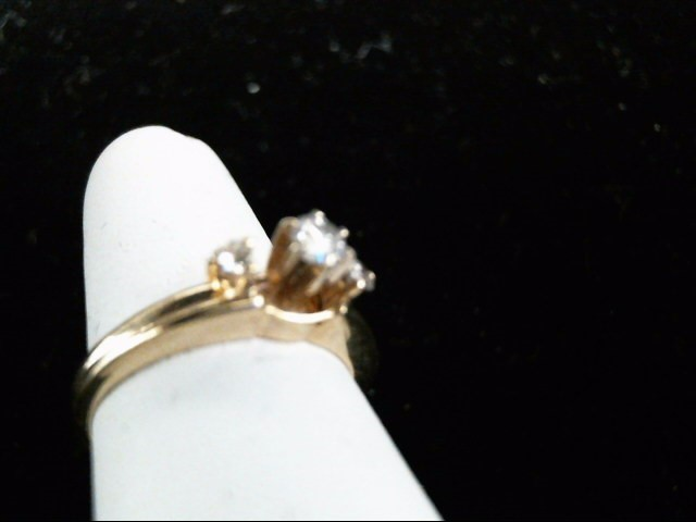 Lady's Diamond Wedding Set 3 Diamonds .29 Carat T.W. 14K Yellow Gold 3.7g