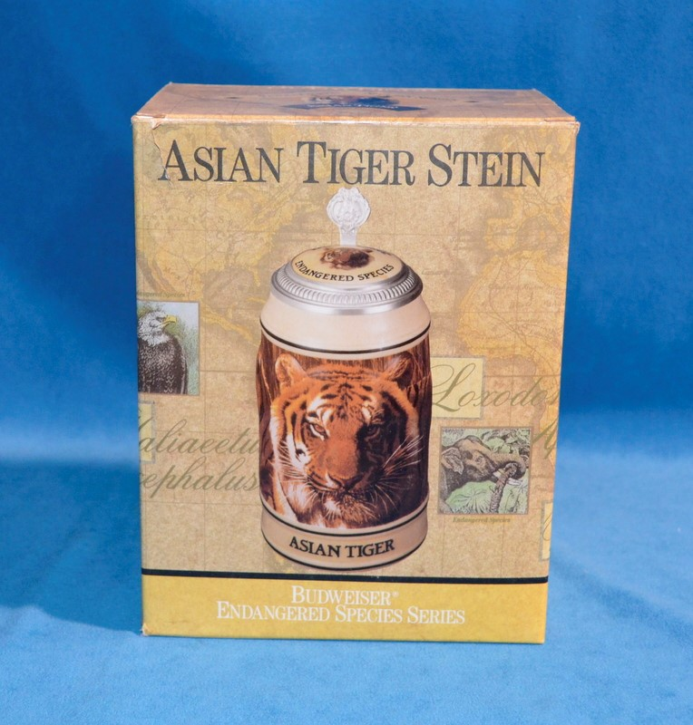 BUDWEISER ASIAN TIGER BEER STEIN