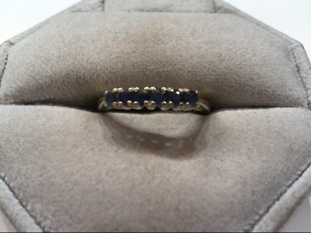 Sapphire Lady's Stone Ring 14K White Gold 2.3g