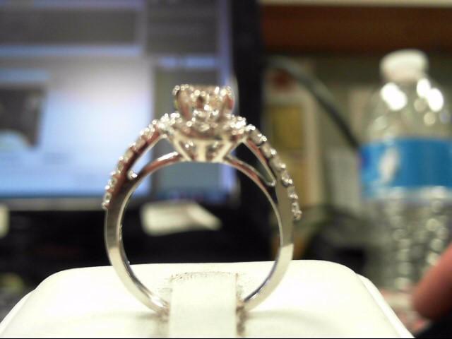 Lady's Diamond Solitaire Ring 25 Diamonds 1.10 Carat T.W. 14K White Gold 3.03g