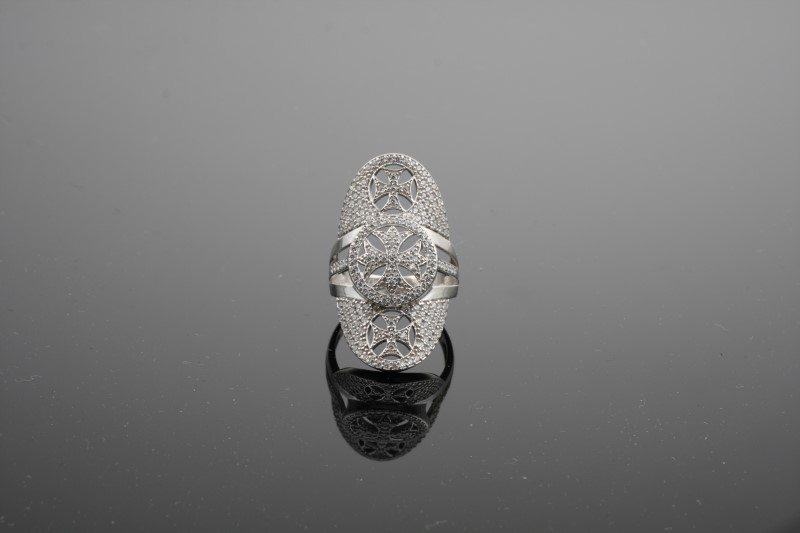 Lady's Silver Ring 925 Silver 4.94g Size:7