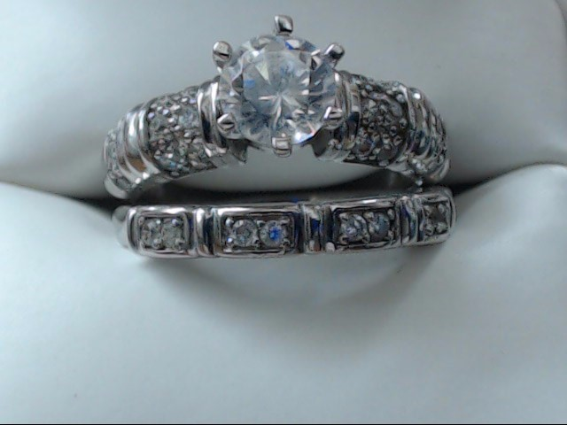 Lady's Silver Ring 925 Silver 5.8g Size:8