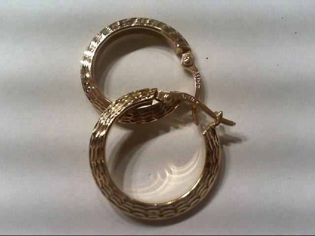 Gold Earrings 14K Yellow Gold 1.5g