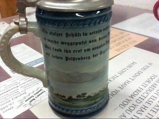 GERMANY Glass/Pottery BEER STEIN