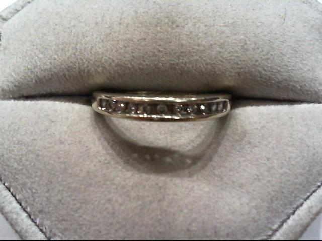 Lady's Diamond Wedding Band 11 Diamonds .22 Carat T.W. 14K White Gold 2.5g
