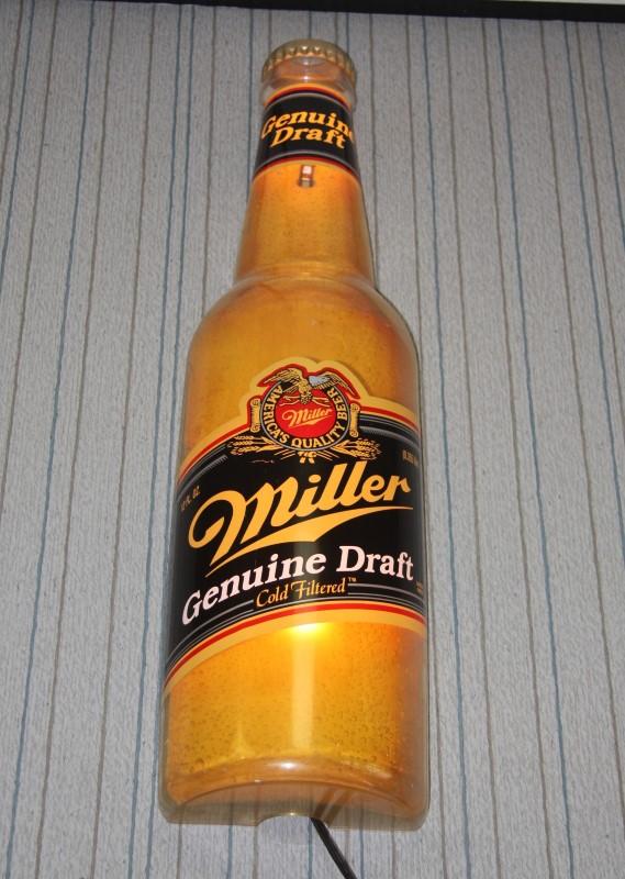 Miller Genuine Draft Lighted Bar Sign