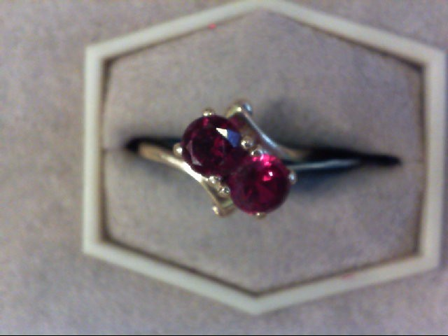 Synthetic Alexandrite Lady's Stone Ring 10K Yellow Gold 1.7g