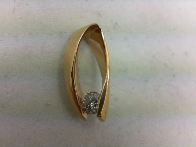 Gold-Diamond Solitaire Pendant 0.2 CT. 14K Yellow Gold 1.5g