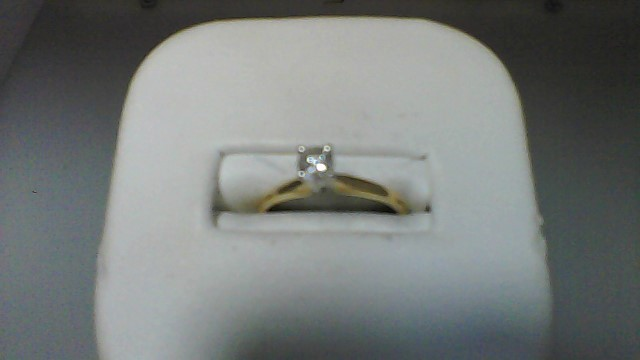 Lady's Diamond Solitaire Ring .24 CT. 14K Yellow Gold 1.6g