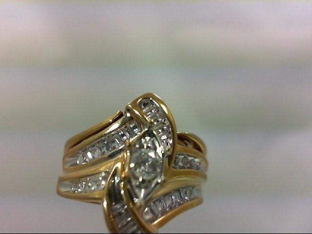 Lady's Diamond Wedding Set 29 Diamonds .39 Carat T.W. 10K Yellow Gold 6.86g