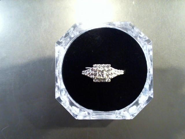 Lady's Diamond Fashion Ring 23 Diamonds .74 Carat T.W. 14K White Gold 5g