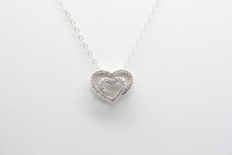 DIAMOND HEART PENDANT 14K WG